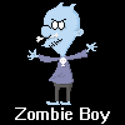 Pixely Zombie Boy by Drewvis