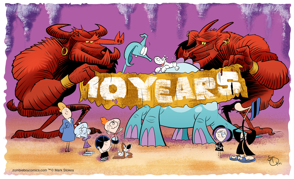 Zombie Boy Comics' 10th Anniversary!
